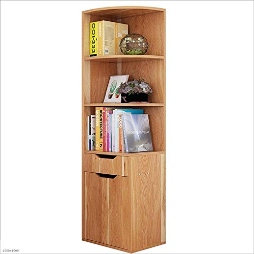 Single Tier Modern Locker - Bookcase Bookshelf Locker Corner Cabinet Corner Cabinet Locker Living Room Corner Cabinet Triangle Cabinet Simple Floor Cabinet (Color : Maple Leaf)