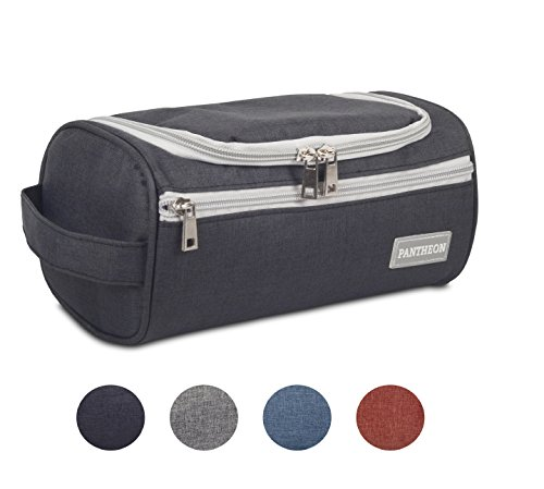 Pantheon Mens Toiletry Bag Dopp Kit Hanging Travel Toiletry Bag Deal (Large Image)