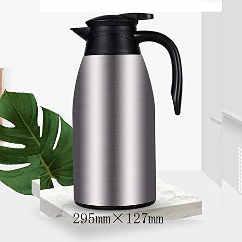 HLJ 2L en acier inoxydable Cafetière Presse Type d'isolation Pot grande capacité Bouilloire