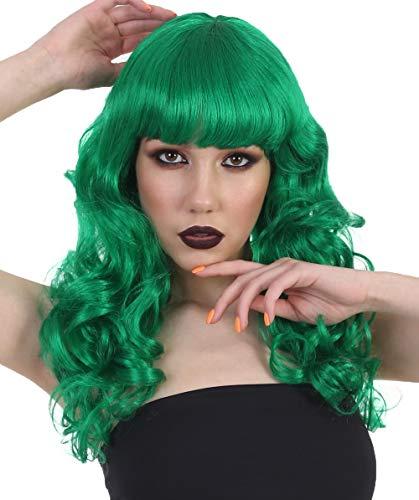 Halloween Party Online Female Joker Curly Wig, Green HW-169 -
