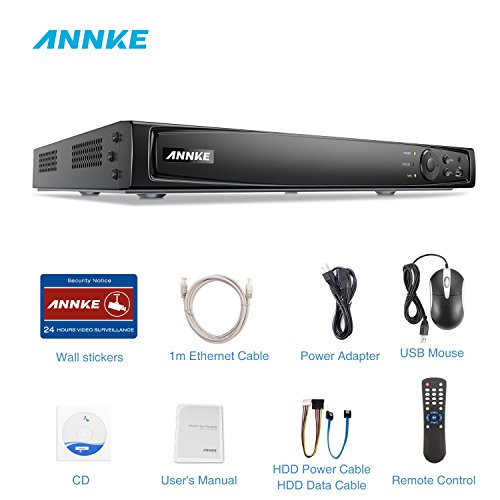 ANNKE 8-Channel POE NVR 1080P/3MP/4MP/5MP/6MP Network Video Recorder - Supports Recording 8CH Up to 6-Megapixel IP Cameras, 8CH Power Over Ethernet, No Hard Drive, Compatible with ANNKE POE IP - Camera Recorder Network