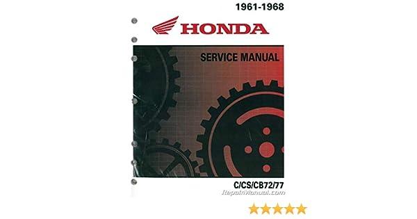 622661 Honda 1961-1968 C72 C77 CS72 CS77 CB72 CB77 250cc ... on