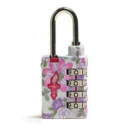 Safe Skies Flower Power TSA 4 Dial Heavy Duty Combination Lock - Daisies