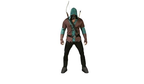 Hombre 5 Piezas Oscuro ARQUERO Robin Hood Disfraz de Halloween ...