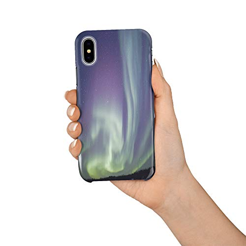 Durable Phone Case for iPhone X, Alaska Aurora