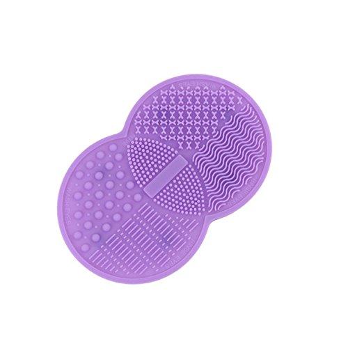 Lalang Lila Silikon Pinselreiniger Pinsel-Reinigung Brush Cleaner für Make-Up und Kosmetikpinsel Reinigung Mat