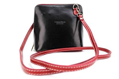 amp; Pelle small Bolso Vera para mujer rojo negro cruzados Ygdwpq7