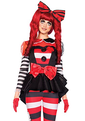 Rag Dolls Costume (Leg Avenue Women's 3 Piece Rag Doll Costume, Multi,)
