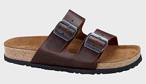 NAOT Men's Santa Barbara Flat Sandal, Brown, 14 M US