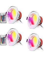 LED Recessed Lighting RGB Downlight Ceiling Light (4 Pack)