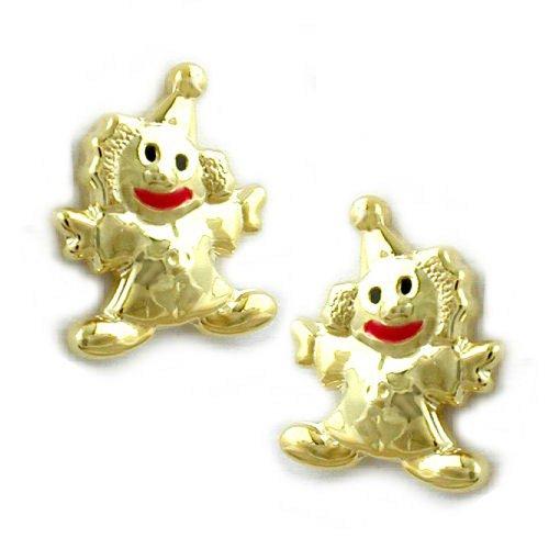 Bijoux Boucles d'oreilles 375 or clown 0.9 g 8 x 6 mm