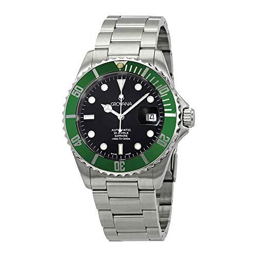 Grovana Men's 1571.2134 Diver Diver Black Dial Green Bezel Automatic Watch