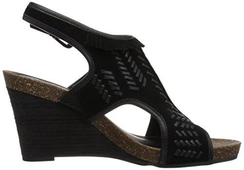 Aerosoles Women's Waterfront Wedge Sandal Black Suede 73Gkn2X2CB