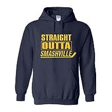 """The Silo NAVY Nashville """"Straight Outta Smashville"""" Hooded Sweatshirt"""