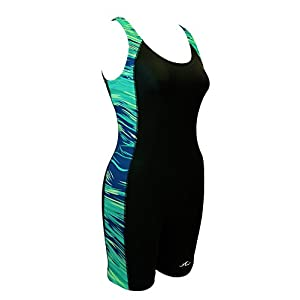 Adoretex Women's Scoop Back One Piece Water Aerobics Unitard Boyleg Swimsuit