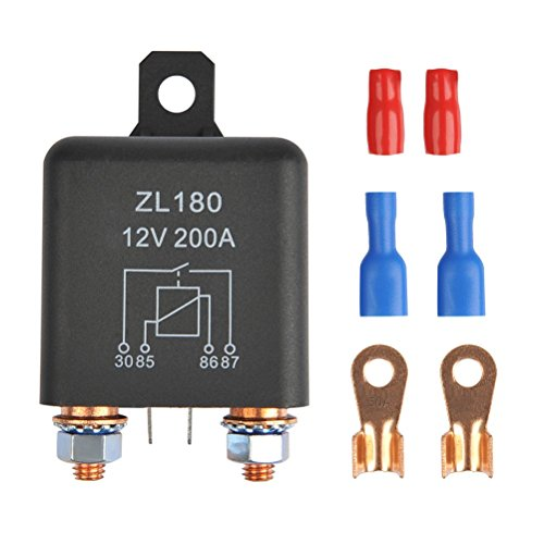 (OFNMY 12V 200A Relay ZL180 Car Starter Heavy Duty Split Charge with 2 Pin Footprint + 4 Terminal for Car Truck Motor Automotive Boat)