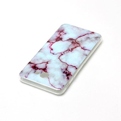 SRY-Funda móvil Samsung Para Samsung Galaxy J7 Cubierta de primera calidad Imitación de mármol Textura Cubierta suave ( Color : E ) B