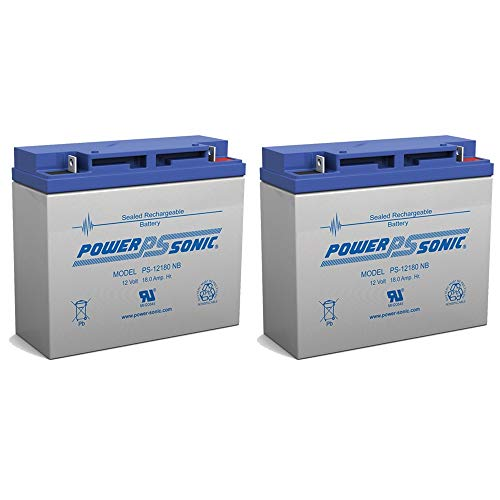- Powersonic 12V 18AH BATTERY BOOSTER PAC ES2500, SLA,VRLA RECH - 2 Pack