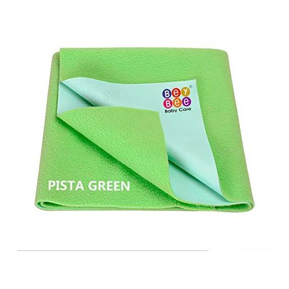 Beybee Quick Dry Baby Bed Protector Waterproof Sheet - Small (Light Green)