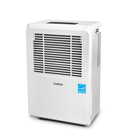 Ivation 30 Pint Energy Star Dehumidifier - Large-Capacity for Spaces Up to 2,000 Sq Ft - Includes Programmable Humidistat, Hose Connector, Auto Shutoff/Restart, Casters & Washable Air Filter
