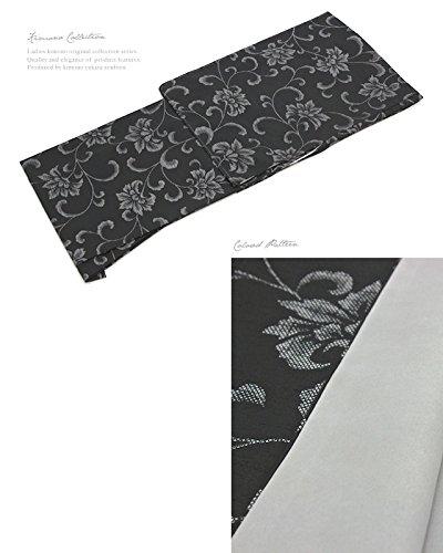 プレタ着物 小紋 袷 bonheur saisons(ボヌールセゾン) 黒 ブラック 大島紬調 仕立て上がり Mサイズ Lサイズ