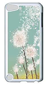 Brian114 Case, iPod Touch 5 Case, iPod Touch 5th Case Cover, Dandelion Retro Protective Hard PC Back Case for iPod Touch 5 ( white )