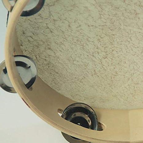 Pandereta piel de oveja, de Lumanuby, superresistente instrumento de percusión para niños Juguetes infantiles para la formación del talento musical infantil ...