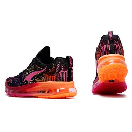 Onemix Hombres Mujer Barato Ligero Zapatillas Trainers Zapatos Deportivos Rosa negro