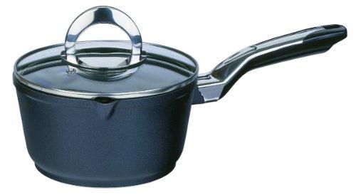 GSW 443159 Gourmet Premium Stielkasserolle mit Glasdeckel, 16 cm