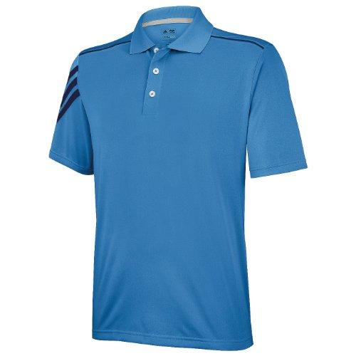 Adidas Golf Climacool 3 Stripe Polo Shirt (XS (36/38 Inch Chest)) (Gulf/Navy)