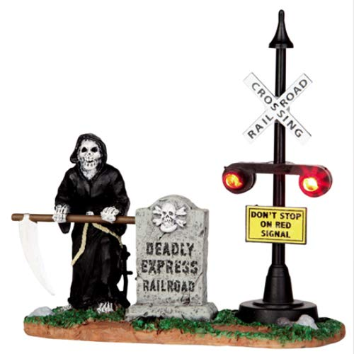 Lemax Spooky Town Grim Railway Switchman Battery Operated # 44746 -
