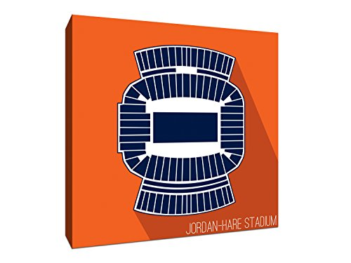 Auburn - Jordan-Hare Stadium - College Football Seating Map - 12x12 Gallery Wrapped Canvas Wall - Map Hare