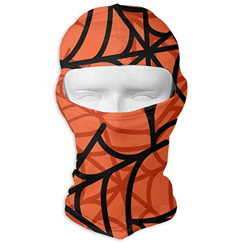 HKITCHENUS Spider Web Halloween Pattern Headwear Balaclava for Men Women Windproof Ski Mask Full Face Mask Thermal Hood for Skiing Snowboarding Motorcycling Cold Weather Winter Sports -