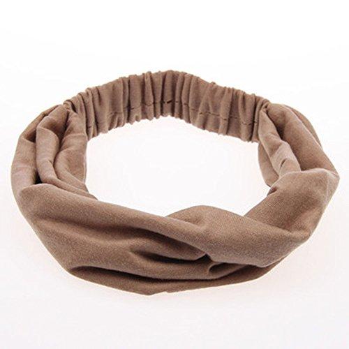 Sttech1 Headbands Stretch Elastic Yoga Soft and Stretchy Sports Fashion Headband for Teens Women Girls Khaki