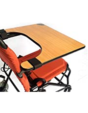 Wheelchair Tray Table for Adults,Elderly & Patients - Wood Wheelchair Lap Tray for Reading,Dining & Writing - Wheelchair Table