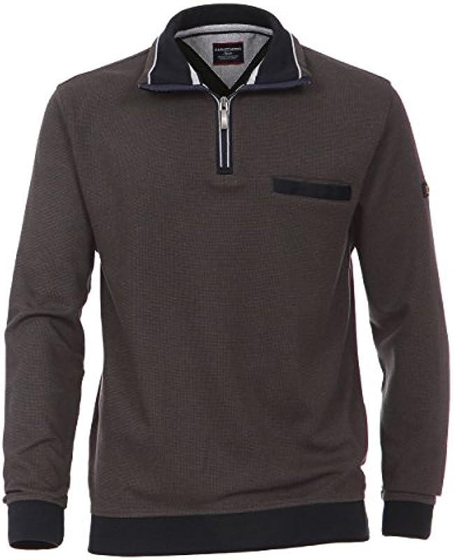 Casa Moda - męski troyer ze 100% bawełny i z obszytym kołnierzem (462522300 A): Odzież