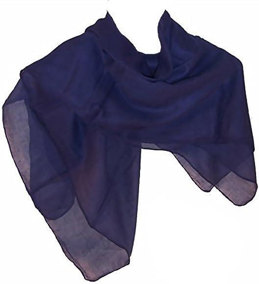 indischerbasar.de Pañuelo cuello azul oscuro pack 10 algodón 100 x ...