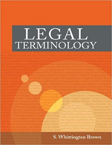 Legal Terminology (West Legal Studies)