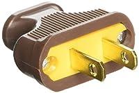 Pass & Seymour 48643BPCC10 Thermoplastic Flat Plug, 125V, 15-Amp, Brown