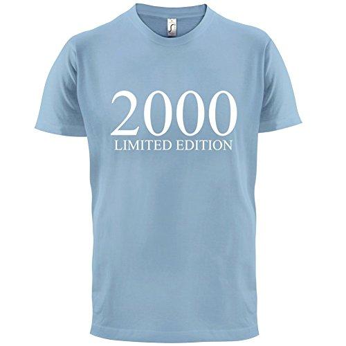 2000 Limierte Auflage / Limited Edition - 17. Geburtstag - Herren T-Shirt - Himmelblau - XL