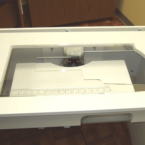 Arrow Custom Cut Clear Acrylic Plexi-glass Piece Sewing Machine Craft Table Cabinet Insert for Bertha, Olivia, Florie, Gidget Ii, Kangaroo & Joey Cabinet, Aussie, Wallaby and Bandicoot with Freearm Fitting in Flatbed - Sewing Machine Cabinets And Tables