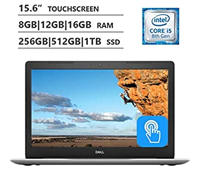 Dell 2019 Premium FHD Inspiron 15 5000 15.6 Inch Touchscreen Laptop (4-Core i5-8250U (>i7-7500U), 4GB/8GB/16GB/32GB RAM, 128GB 256GB 512GB 1TB SSD, 2TB HHD, DVD, Windows 10) Black/Blue/Silver