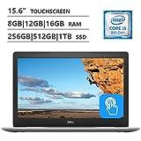 Dell 2019 Premium FHD Inspiron 15 5000 15.6 Inch Touchscreen Laptop (4-Core i5-8250U (>i7-7500U), 4GB/8GB/16GB/32GB RAM, 128GB to 1TB SSD, 1TB/2TB HHD, Intel 620, DVD, Windows 10) Black/Blue/Silver