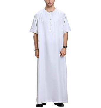 Hombres Traje Casual, musulmán Islámico Color sólido Trajes ...