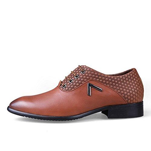 Habillées Lacets Chaussures Homme Eu 38 Marron Brogue 50 Oxford Derby Dressing Cuir Clair Vernis Icegrey Mariage qC1aE