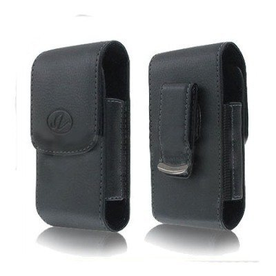 BLACK VERTICAL LEATHER COVER Kyocera product image