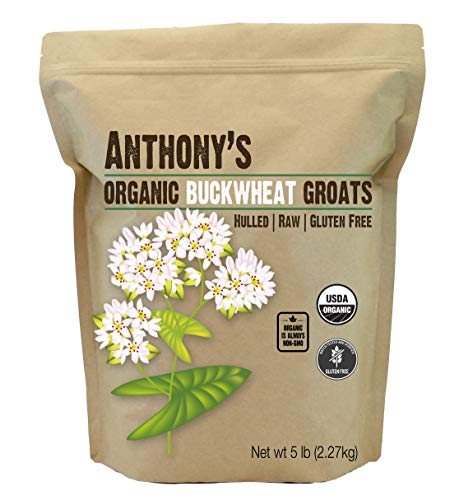 Organic Raw Hulled Buckwheat Groats (5lb) by Anthony's, Grown in USA, Gluten-Free ()