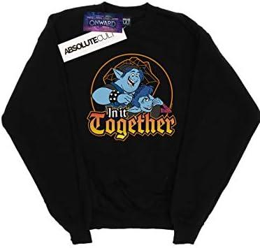 Disney Herren Onward In It Together Sweatshirt Schwarz Small