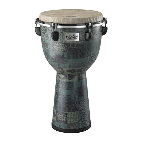 Djembe Remo Drum - Remo DJ-6112-32 Apex Djembe Drum - Green Kinte, 12