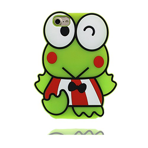 iPhone 6 Custodia, TPU Cover Shell Cute Semplice Progettato per iPhone 6s Copertura, iPhone 6S Case 4.7 | 3D Cartoon frog rana | verde